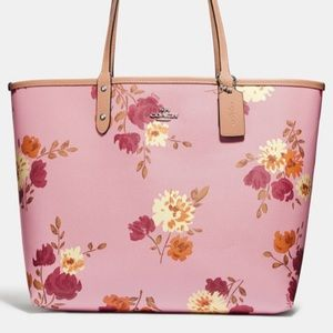 Reversible Coach Tote w/ Painted Peony
